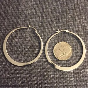 Silver hoop earrings Origami Owl